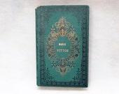 Unique Wedding Guestbook, Photo Guestbook, Anniversary Keepsake, Honeymoon Scrapbook, Personalized Journal, Large Green Guest Book Vintage