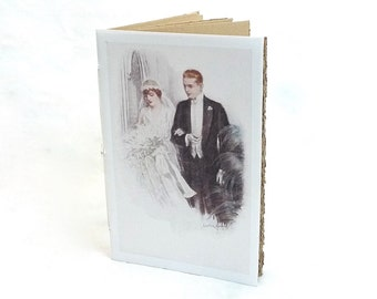 Paper Journal, Wedding Vows, Bride Notebook, Guestbook Idea, Romantic Vintage Style, Recycled Paper