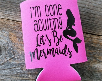 Mermaid Can Cooler | Beach Can Cooler | Can Cooler | Beverage Cooler | Beverage Holder | Party Favors | Mermaid Gifts | Girly Can Cooler