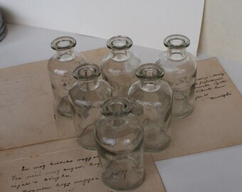 Antique Medical/Perfume Bottles - Apothecary Bottles - 1970's