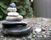 Large Beach Stone Stack 9 Natural Ocean Rock Zen Garden Sculpture Balance Rock Art Fountain Meditation Yoga Sculpture Gift Balance Peace Sea