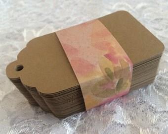 Jumbo Kraft Gift Tag, Escort Tags, Rustic Primitive Wedding Wish Tree Favor Tags Blank 4.5 Inch Labels - set of 15