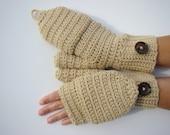 Convertible Fingerless Mittens, Oatmeal Texting Mittens, Crochet Womens Flip Top Mittens, Winter Fashion, Cycling Mittens, Stylish Gloves