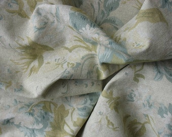 Cotton Upholstery Fabric Linen Fabric Cotton Floral Fabric - 1 3/8 Yard - UF1368