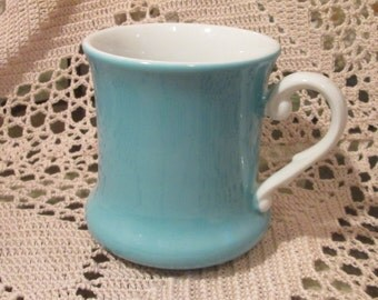 Vintage Mid Century Turquoise Mug by New Trends, Japan