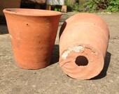 Terracotta pots, vintage plant pots, clay pots, succulent planters, flower pots, set of 2