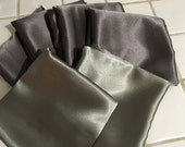Reserved for Maysum- Standard size Crepe back Satin Pillow Cases