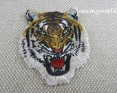 Iron-on Patch, Tiger Head Patch, Embroidered Patch for Jeans, Backpack