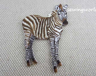 Iron-on Patch, Zebra Patch, Embroidered Patch for Jeans, Backpack