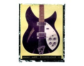 johnny marr the smiths  rickenbacker guitar art print / music gift / rock n roll art / music room decor / guitar gift / man cave art