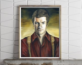 Paper Print of Captain Malcolm Reynolds from Firefly