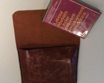 Files Leather Bag/Soft Portfolio MacAir Case Bag/Handmade Vintage Cogniac Custom Bag