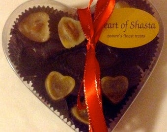 10 pc 3 Flavor Heart Box Handmade Organic Raw Chocolates 3oz