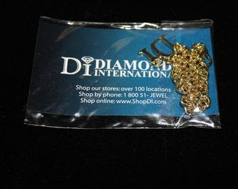 Diamond International Charm Bracelet with Di Charm and Diamond Chip, Vintage