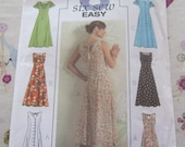 Sewing Pattern-Butterick 4794 Long Princess Short Sleeve  Dress Size 16,18,20,22  2006 PATTERN