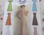 Sewing Pattern-Butterick 4794 Long Princess Short Sleeve  Dress Size 16,18,20,22  2006 PATTERN