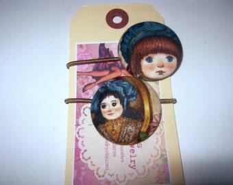 Hair Elastics Vintage Pretty Dolls Ponytail Ties
