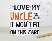 Funny Uncle Birthday Card - personalised card - card for Uncle - birthday card - funny card - Uncle birthday - uk - Uncle