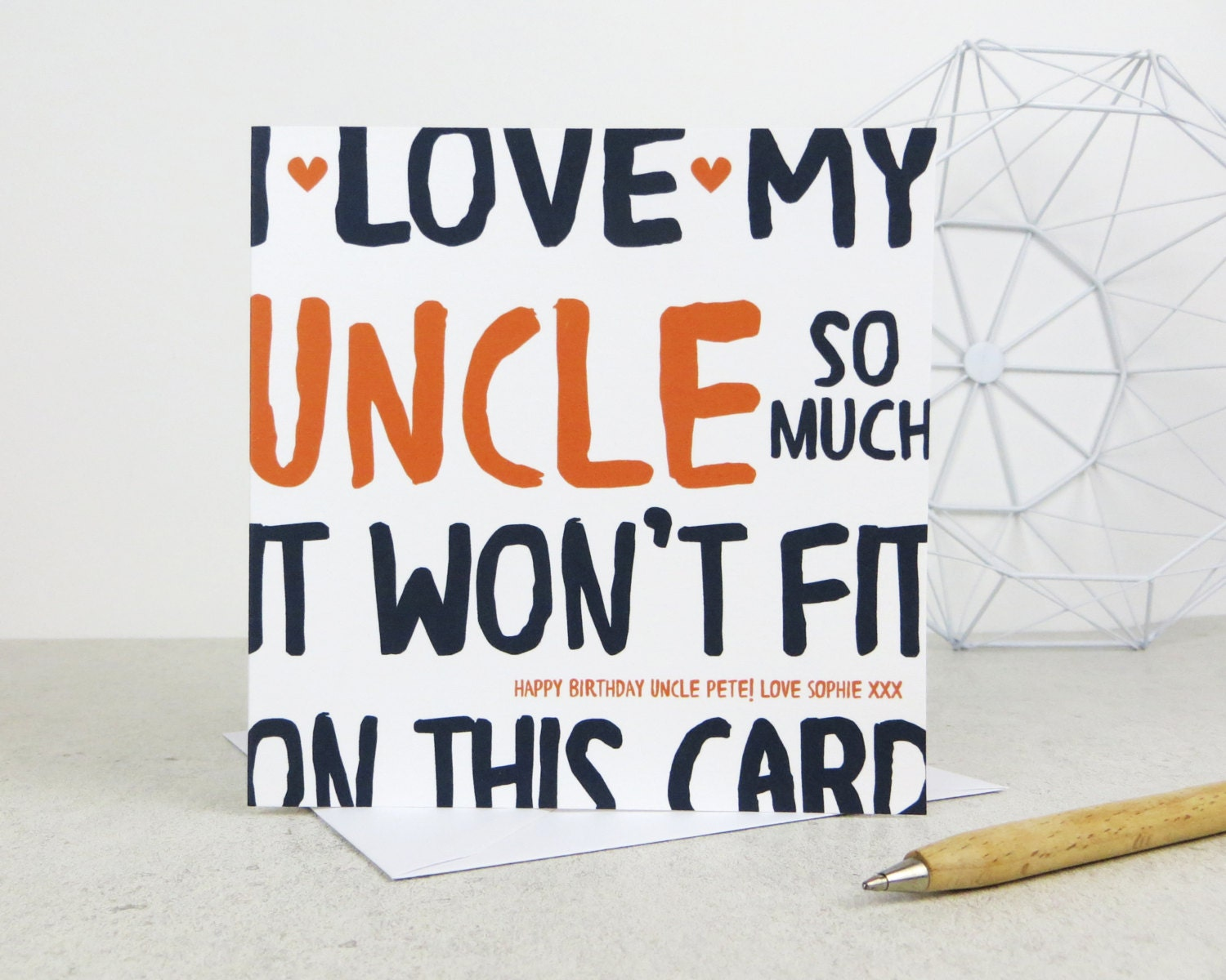 Funny Uncle Birthday Card personalised card by designedbywink