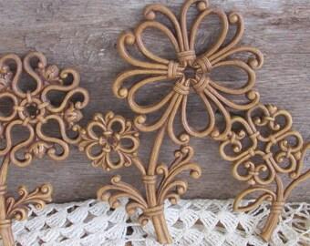 Homco Flowers, Homco Wall Decor, Home Interior
