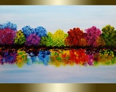 Oil painting Landscape Colorful Blooming