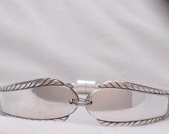 1941 Pendant Silverplate Spoon Bracelet