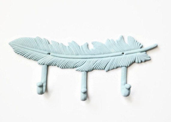 Decorative Wall Hanging Coat Rack : Feather coat rack decorative wall hook boho chic organizer