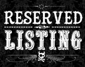 RESERVED LISTING - Custom jewelry