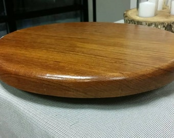 Solid Wood Lazy Susan. Hand Crafted. Mahogany