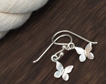 Sterling Silver Dainty Butterfly Earrings / Bridesmaid Gift / Graduation Gift / Mother's Day Gift Idea / Butterfly Jewelry