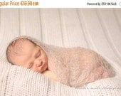 SALE 20% OFF Newborn prop-Mohair silk knit loose wrap-Newborn baby wrap in mohair and silk wool-Photography prop