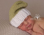 SALE Newborn hat- Hipster hat for Newborn-knit slouchy hat for newborn girls and boys-Baby prop hat
