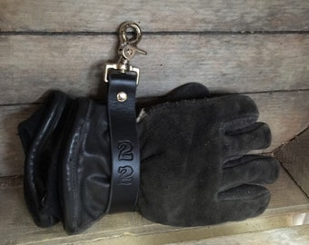 Would make a great gift Genuine Leather Personalized  fireman glove tamer