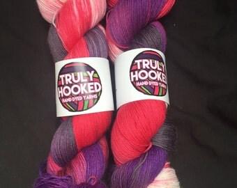 The Vamps hand dyed merino sock yarn