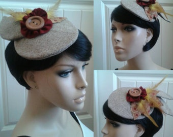 Fascinator hat retro 1950s hat Victorian hat
