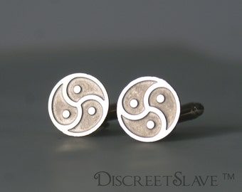 BDSM emblem cufflinks. Stainless steel collection