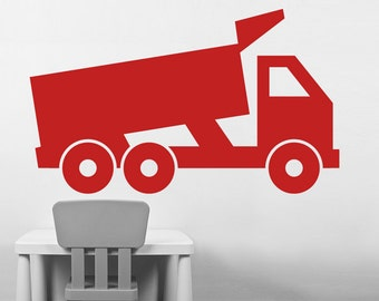 Kids Wall Decal Dump Truck Vinyl Wall Decal