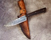 Custom EDC  knife, fixed stainless knife, men's gift