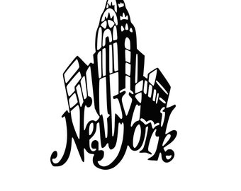 New York SVG cutting file for Silhouette or Cricut