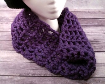 Purple Cowl, crocheted