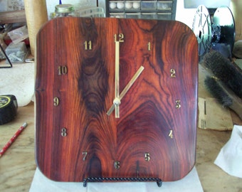 Clock, Wall or Stand, Cocobolo  Wood