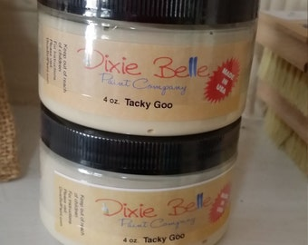 Dixie Belle Paint - Tacky Goo - Adhesive to be used with Dixie Shine - 4 ounces