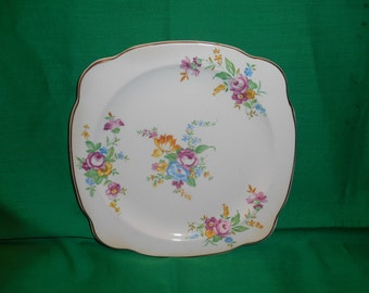 "Six (6), 8 1/8"" Salad Plates, from Paden City Pottery, in a Unknown Pattern."