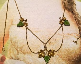 Grape Festoon Necklace Bib Victorian Edwardian Bridal
