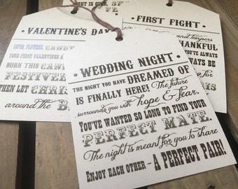 CUSTOM Wine Tags - Bridal or Wedding Shower Gift - Poems - Wine Basket - RUSTIC - Personalize - DIY Digital Printable File
