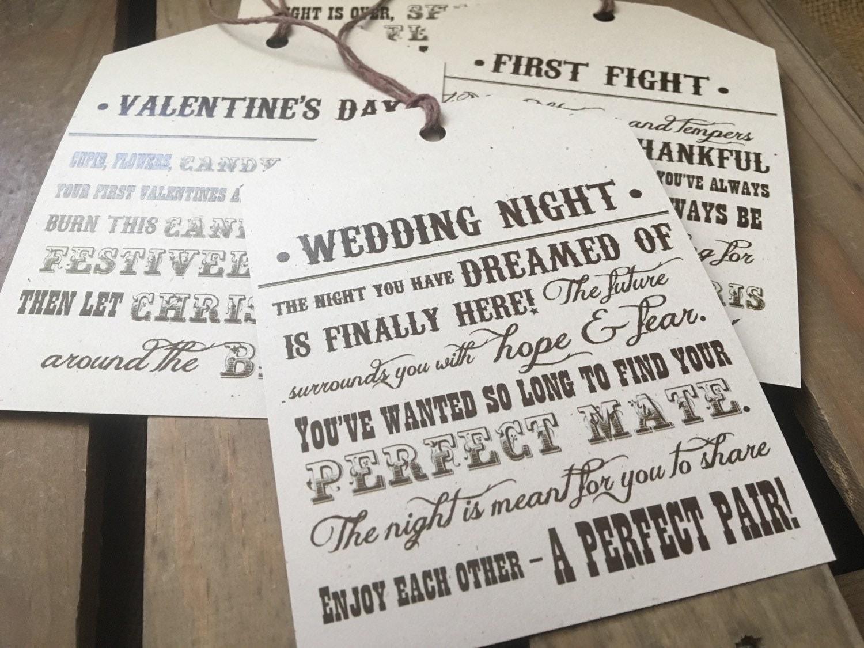 Wedding Gift Poems: CUSTOM Wine Tags Bridal Or Wedding Shower Gift Poems