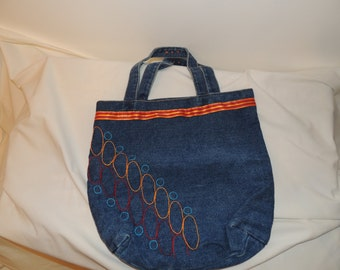 Handmade Blue Jean Purse/Tote bag