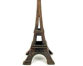 Vintage 1960s Eiffel Tower Paris France ~ French Souvenir Copper Tone ~ La Tour Eiffel Romantic Iconic Landmark Memento Gift for Him ~ Her