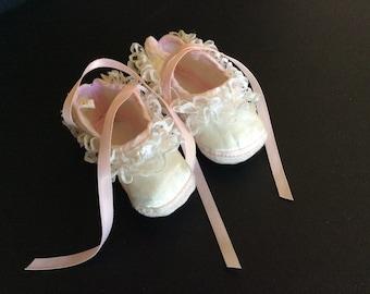 Infant Satin Bootie/Crib Shoes
