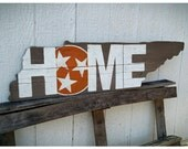HOME Rustic UT Vols Tennessee Tri-star cutout